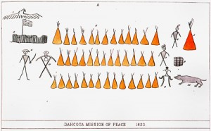 C11 FS pictograph adjusted 5 copy 300x186 A Dakota invitation to Coldwater Spring in 1820
